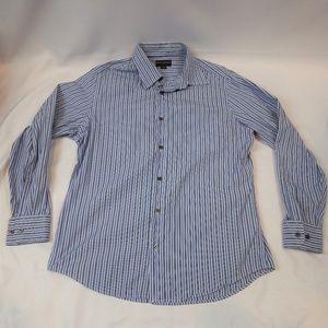 Banana Republic- Blue Stripe Shirt- Medium